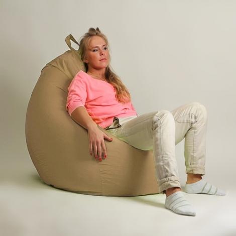 Кресло мешок груша XXL Стандарт Бежевое
