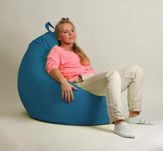 Кресло груша XXL стандарт бирюза