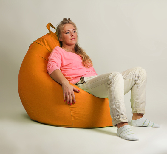 Кресло груша XXL стандарт оранжевое