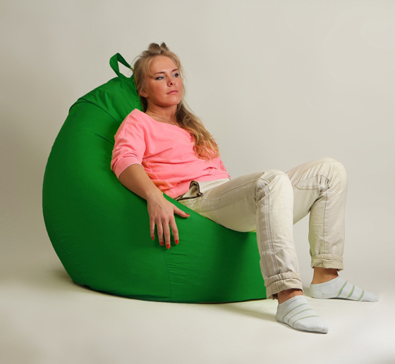 Кресло груша XXL стандарт зеленое