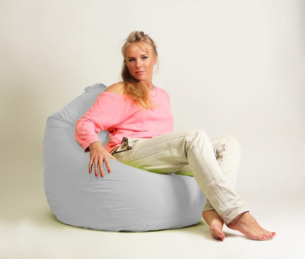 Кресло мешок груша Стандарт Белая