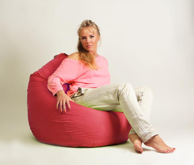Кресло мешок груша Стандарт Красная