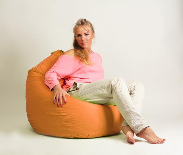 Кресло мешок Груша Стандарт Оранжевая