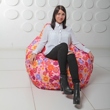 "Кресло мешок Груша XXL ""Hippi Flower"""