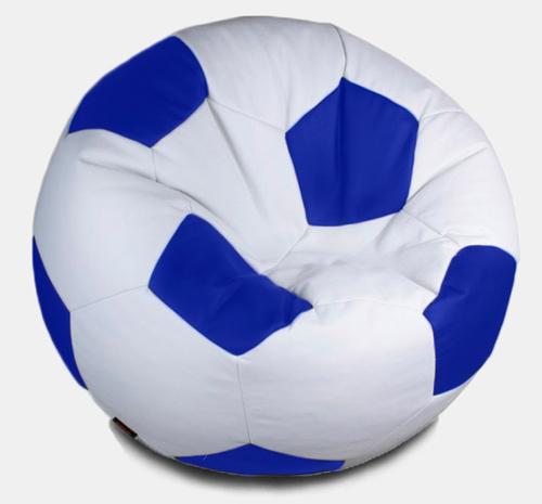 Кресло мешок футбольный мяч бело-синий