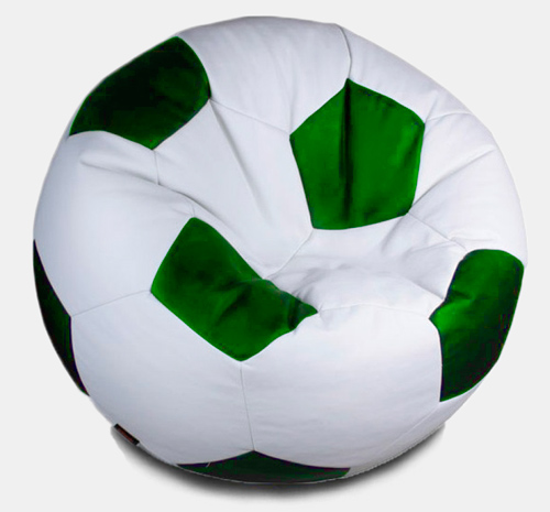 Кресло мешок футбольный мяч бело-зеленый
