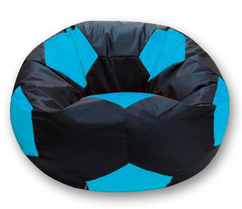 Кресло мешок футбольный мяч черно-бирюзовый