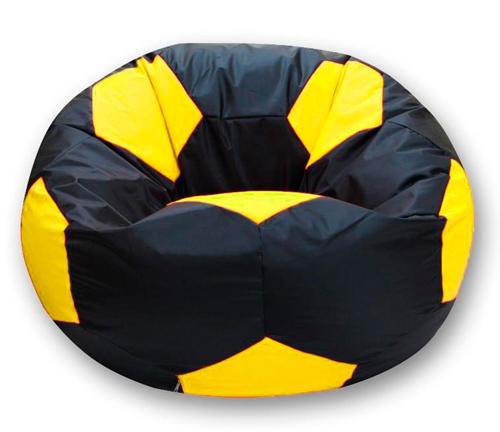 Кресло мешок футбольный мяч черно-желтый