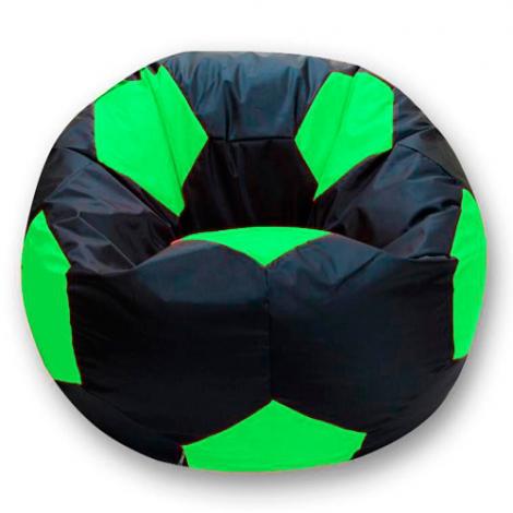 Кресло мешок футбольный мяч черно-салатовое