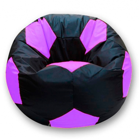 Кресло мешок футбольный мяч черно-сиреневый
