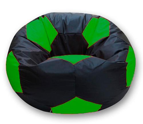 Кресло мешок футбольный мяч черно-зеленый
