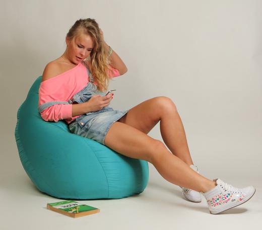 Кресло мешок Груша Детская Бирюзовая