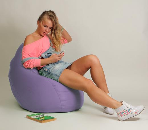 Кресло мешок Груша Детская Сиреневая