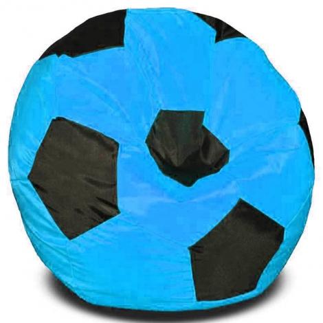 Кресло мешок футбольный мяч бирюзово-черное