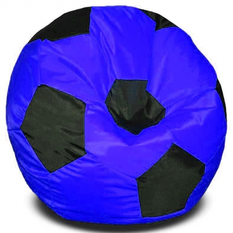 Кресло мешок футбольный мяч сине-черное