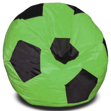 Кресло мешок футбольный мяч зелено-черное