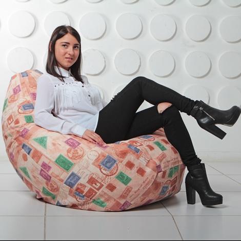 """Кресло мешок Груша XXL """"Штамп 8"""""""