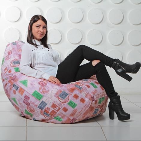 """Кресло мешок Груша XXL """"Штамп 6"""""""