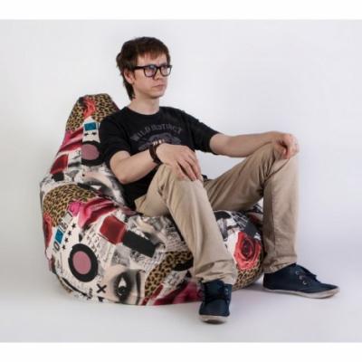 Кресло груша XXL Липстик