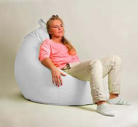 "Кресло мешок ""Груша"" XXL стандарт Белое"