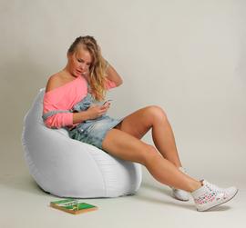Кресло мешок Груша Детская Белая