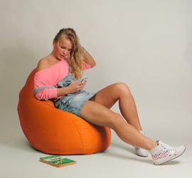 Кресло мешок Груша Детская Оранжевая