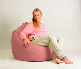 Кресло мешок груша Стандарт Розовая