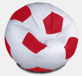 Кресло мешок футбольный мяч бело-красный