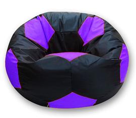 Кресло мешок футбольный мяч черно-фиолетовый