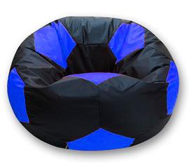 Кресло мешок футбольный мяч черно-синий