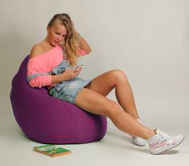 Кресло мешок Груша Детская Фуксия