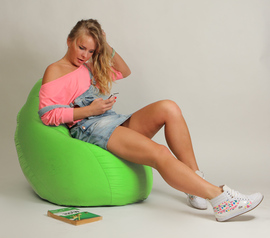 Кресло мешок Груша Детская Салатовая