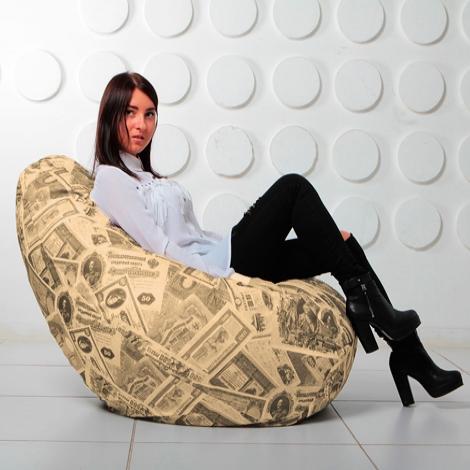 """Кресло мешок Груша XXL """"Money 04"""""""
