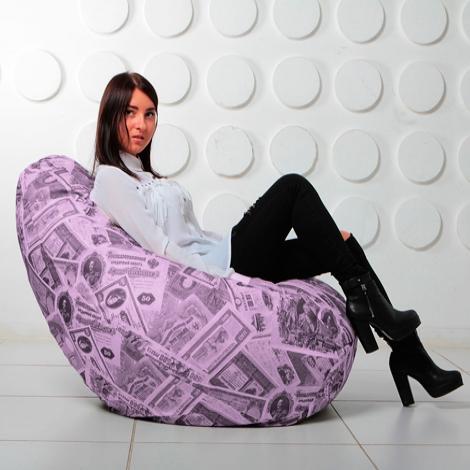 """Кресло мешок Груша XXL """"Money 06"""""""