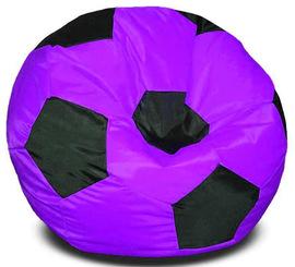 Кресло мешок футбольный мяч фуксия-черное