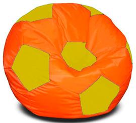 Кресло мешок футбольный мяч оранжево-желтый