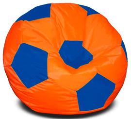 Кресло мешок футбольный мяч оранжево-синий