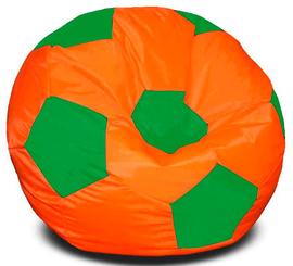Кресло мешок футбольный мяч оранжево-зеленый