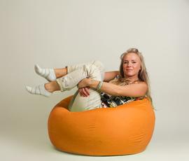 """Кресло мешок """"Шар"""" Оранжевое"""