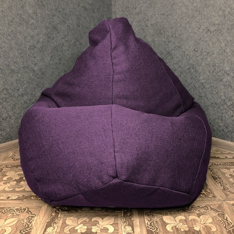 Кресло мешок груша XXL рогожка Sigmund 7