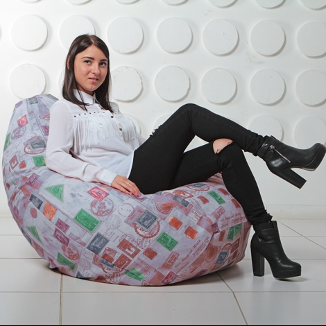 """Кресло мешок Груша XXL """"Штамп 7"""""""