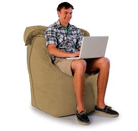 """Кресло мешок """"Трон"""" бежевое"""