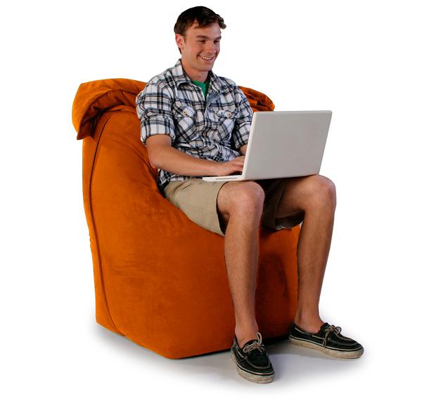 """Кресло мешок """"Трон"""" оранжевое"""