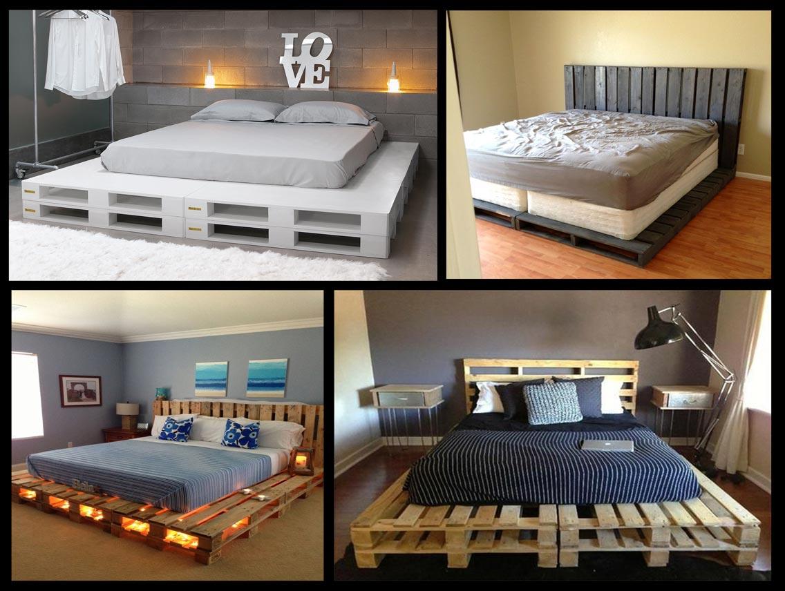 Кровать на поддонах своими руками 34